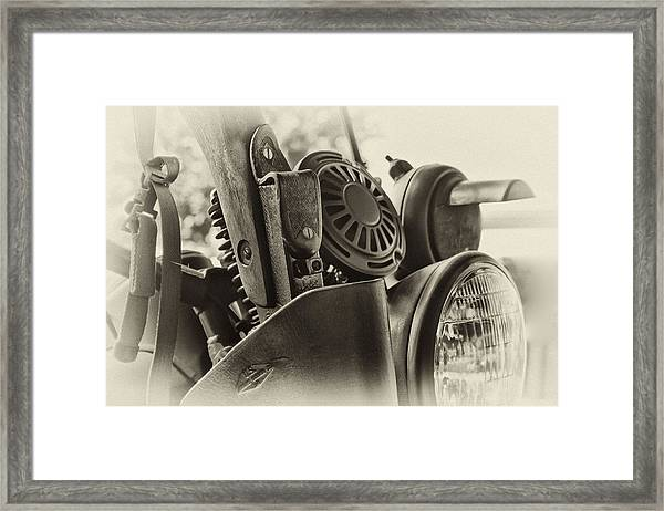 Army Motorcycle Framed Print