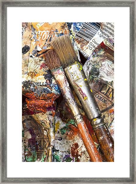 Art Is Messy 2 Framed Print