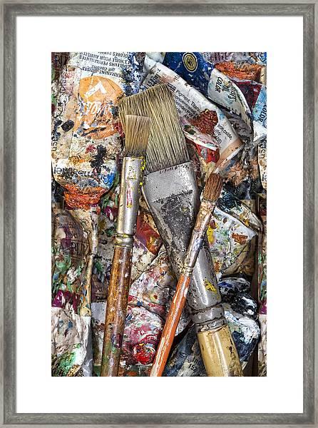 Art Is Messy 4 Framed Print