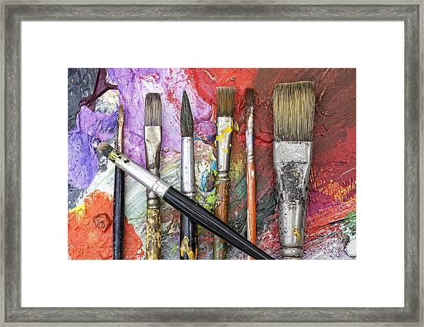 Art Is Messy 6 Framed Print