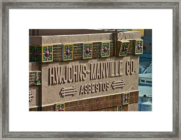 Asbestos Building Framed Print