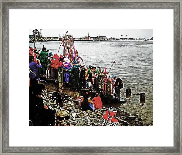 Ashes To Water Mardi Gras Day In New Orleans Framed Print