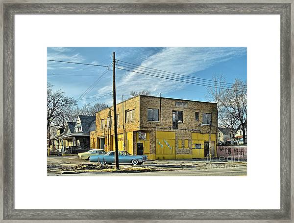 At The Car Wash Framed Print