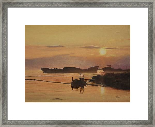 At The End Of It's Day Framed Print