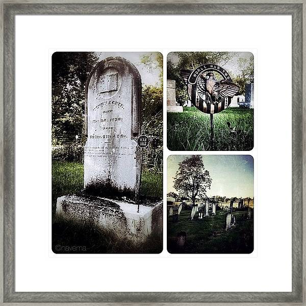 At This Small Rural Cemetery In Framed Print
