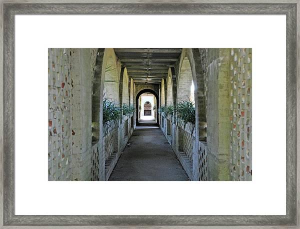 Atalaya Covered Walkway Framed Print