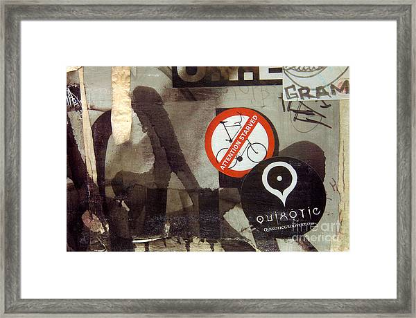 Attention Starved Framed Print