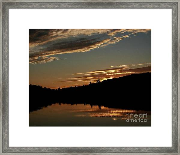 August Lake Sunset Framed Print