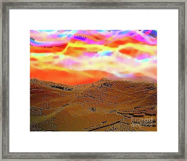 Auroa Over The Desert Framed Print