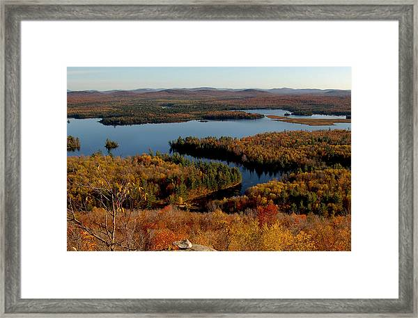 Autumn At Low's Lake Framed Print
