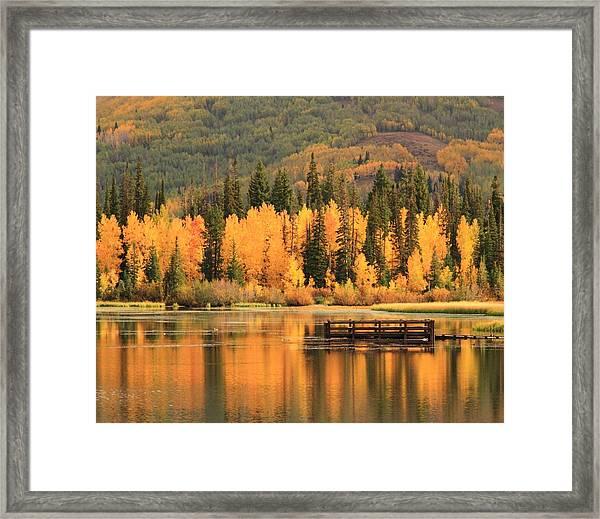 Autumn Calm Framed Print by Gene Praag
