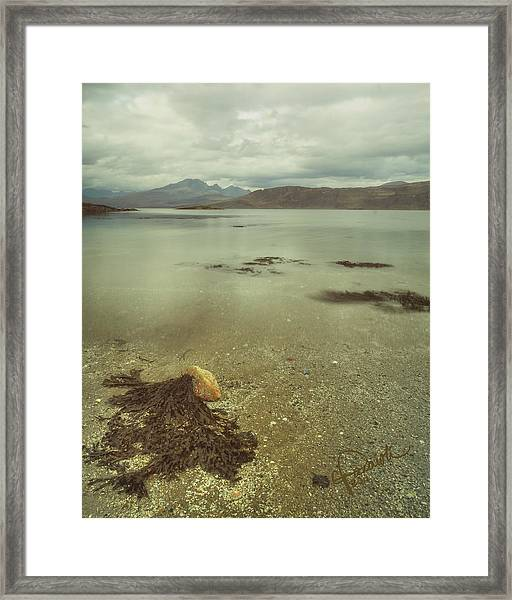 Autumn Day At The Seaside Framed Print