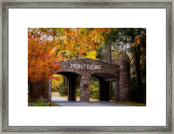 Autumn Gate Framed Print