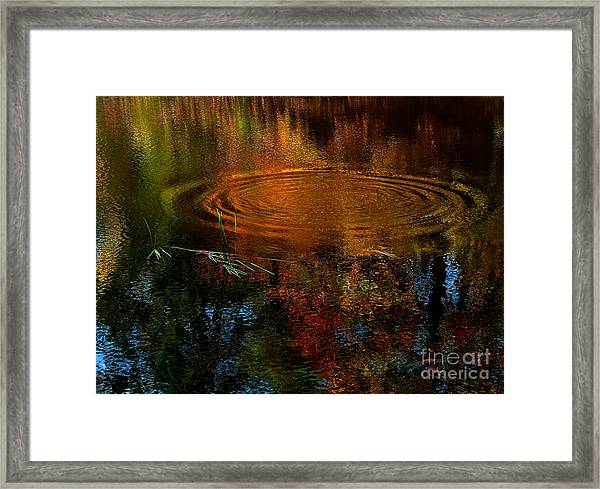 Autumn Leaves Were Turning Framed Print