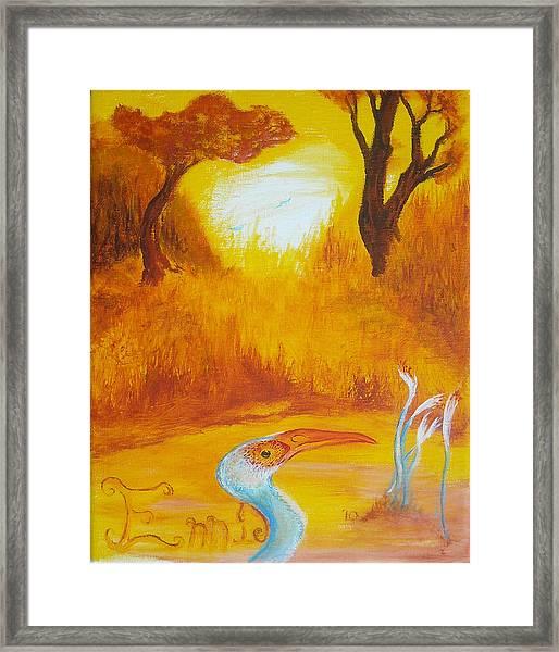 Autumnul Mother Evening Framed Print