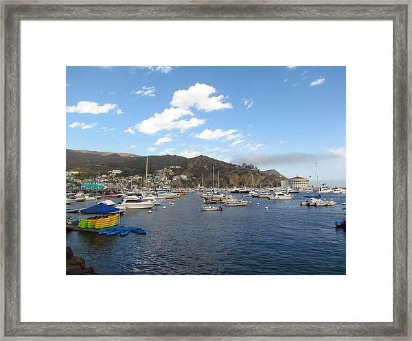 Avalon Bay Catalina Island Framed Print by Tony and Kristi Middleton