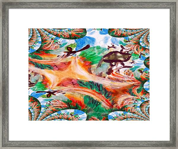 Avatar Two Abstract Aircraft Framed Print