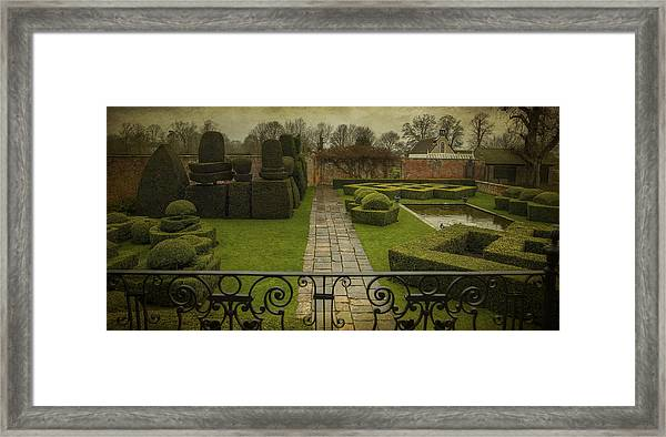 Avebury Manor Topiary Framed Print