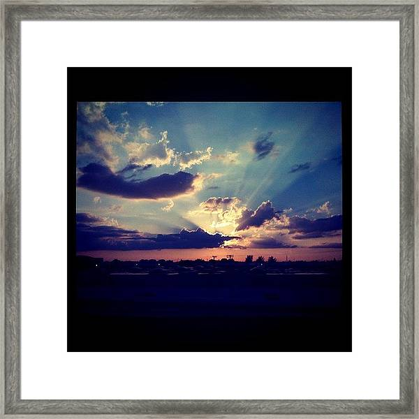 Awesome #sunset Yesterday. #sky #wow Framed Print