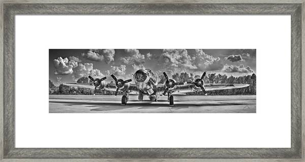 Framed Print featuring the photograph B-17 by Williams-Cairns Photography LLC