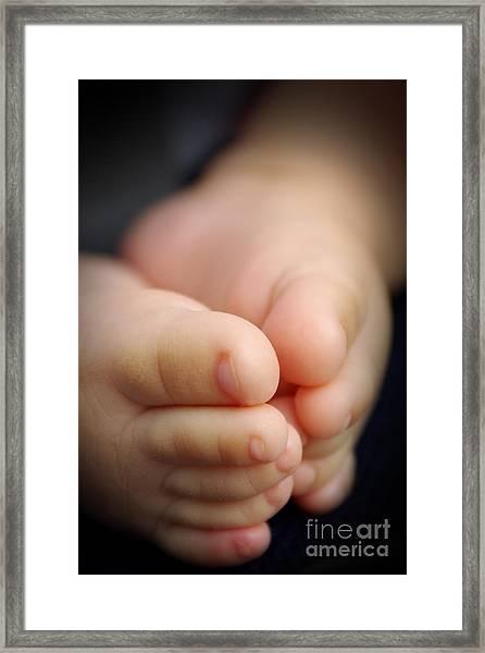 Baby Feet Framed Print