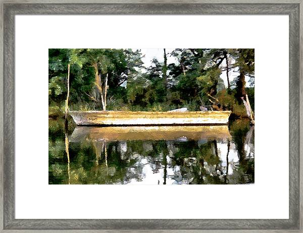 Back Creek Solitude Framed Print