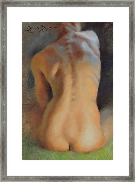 Back Study In Warm And Cool Framed Print