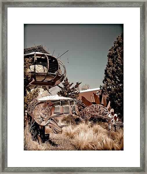 Albuquerque, New Mexico - Back To The Future Framed Print