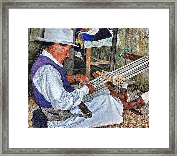 Backstrap Loom - Ecuador Framed Print