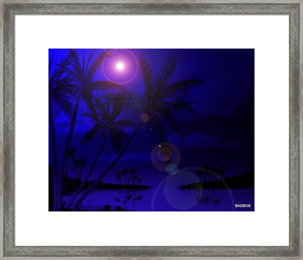 Bad Moon Shinning Framed Print
