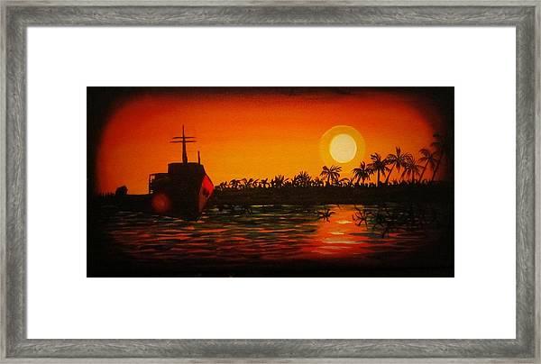 Bad Sunset Framed Print