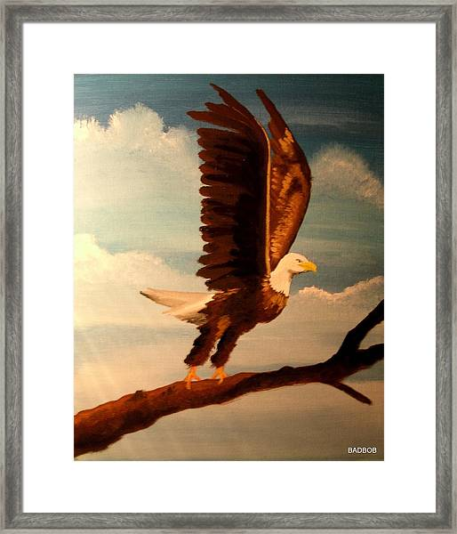 Badeagle Framed Print