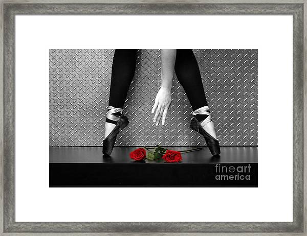 Bailarina En Rosas Framed Print