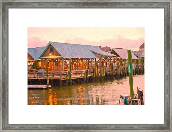 Bald Head Island Marina Framed Print