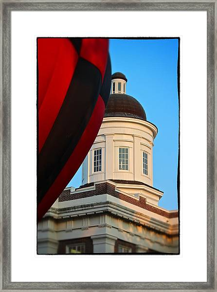 Balloon And Dome Of The Canton Courthouse Framed Print