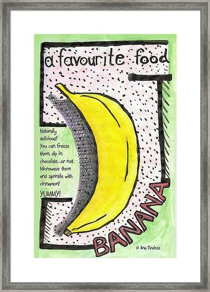 Banana Framed Print