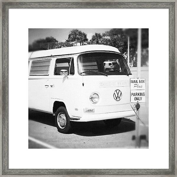 #bandw #blackandwhite #vw #van #vwvan Framed Print