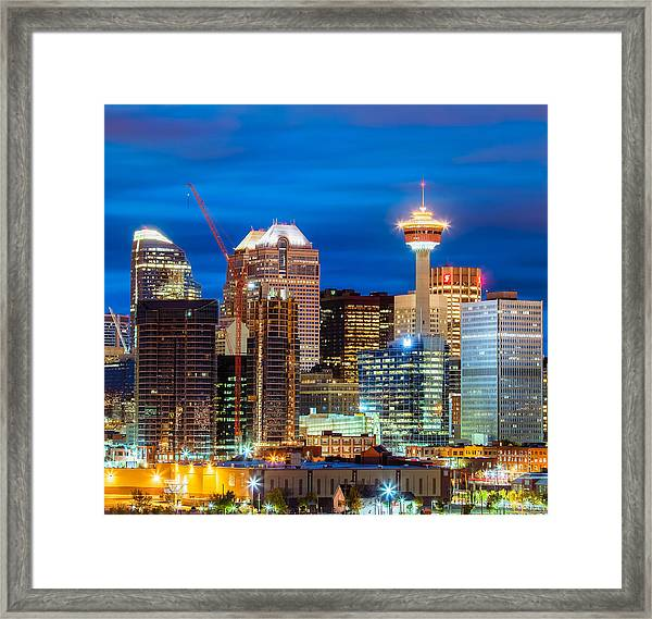 Bankers And Tower Framed Print