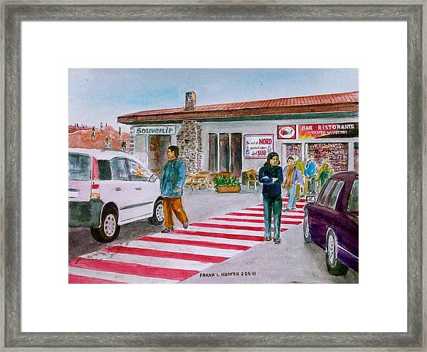 Bar Ristorante Mt. Etna Sicily Framed Print