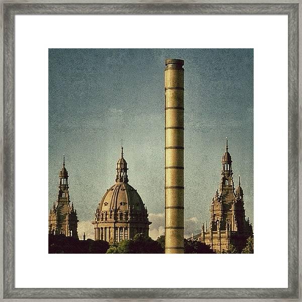 Barcelona - Montjuïc Framed Print