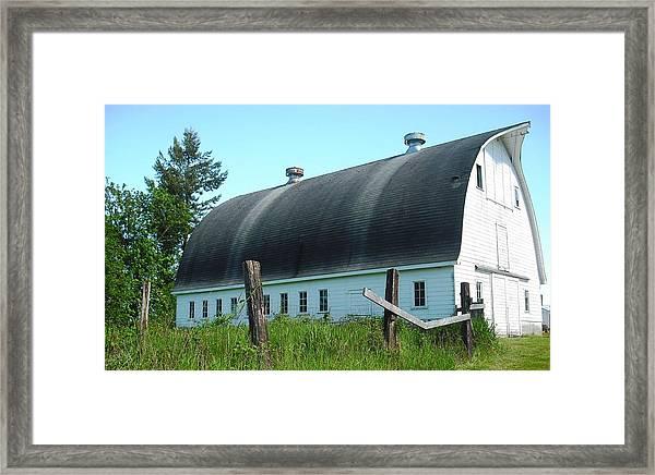 Barn In Longview Framed Print