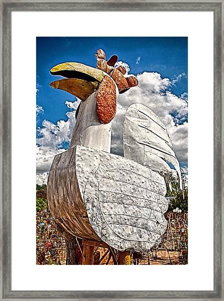 Barnyard Bully Framed Print