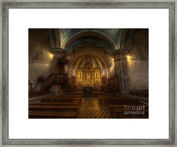 Baroque Church In Savoire France Framed Print