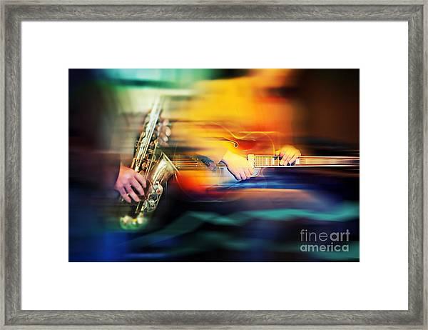 Basic Jazz Instruments Framed Print