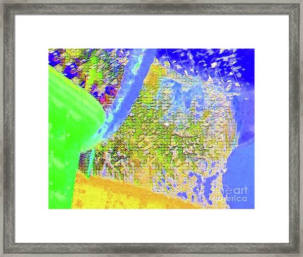 Batique Mosaic Framed Print