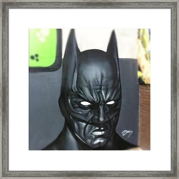 #batman By #jodyt During Framed Print