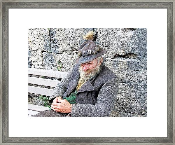 Bavarian Gentleman Partenkirchen Germany Framed Print