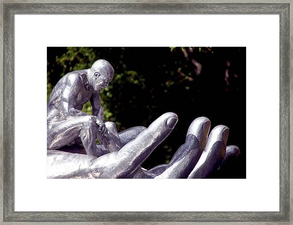 Be Still My Child Framed Print by Jez C Self