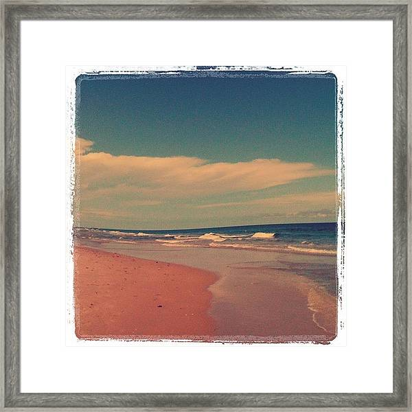 Beach Days. :) #beach #day #love #sky Framed Print
