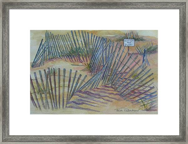 Beach Fences Framed Print